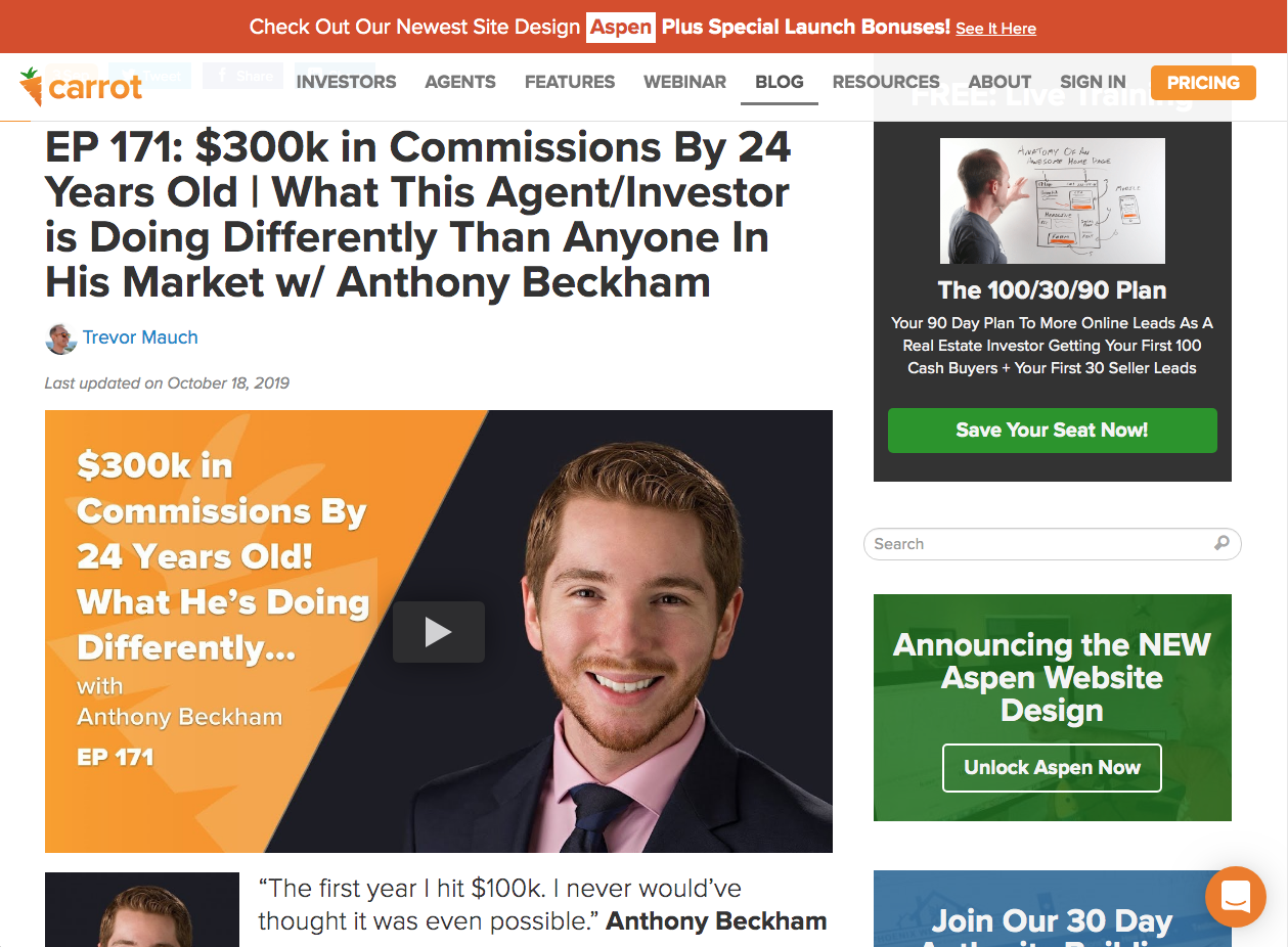 Real Estate Investor Website Examples